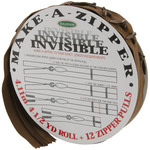 Make - A - Zipper Kit Invisible 4-1/2yd - Brown