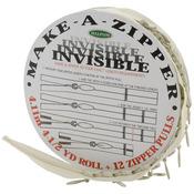 Make - A - Zipper Kit Invisible 4-1/2yd - Cream