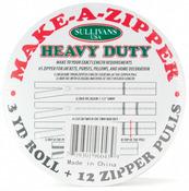 Make - A - Zipper Kit Heavy - Duty 3yd - White
