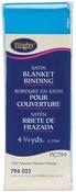 "Neon Blue - Single Fold Satin Blanket Binding 2""X4-3/4yd"