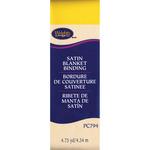 "Canary - Single Fold Satin Blanket Binding 2""X4-3/4yd"