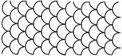 "Overall C.L. Design 8""X18"" - Quilt Stencils"