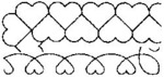 "2"" & 4"" Borders 8""X18"" - Quilt Stencils"