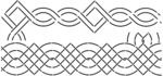 "3"" Borders 8""X18"" - Quilt Stencils"