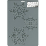 "7"" & 10"" Snowflakes - Quilt Stencils By Julie Mullin"