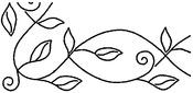 "5"" Leafy Branch Braid 8""X18"" - Quilt Stencils By Pepper Cory"
