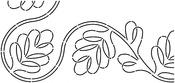 "7"" C. L. Blackberry Vine Border 8""X18"" - Quilt Stencils By Pepper Cory"