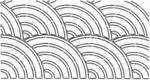 """C. L. Baptist Fan 10""""X20"""" - Quilt Stencils By Pepper Cory"""