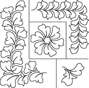 Hyacinth Borders - Quilt Stencils By Patricia Ritter