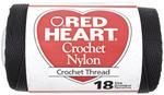 Black - Nylon Crochet Thread Size 18 150yd