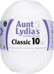 White - Aunt Lydia's Classic Crochet Thread Size 10 Jumbo