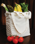 "Natural - Reusable Canvas Grocery Bag 14.5""X11.5""X6.5"""