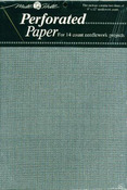 "Silver - Perforated Paper 14 Count 9""X12"" 2/Pkg"