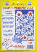 50 State Americana Quilt - Aunt Martha's Iron-On Transfer Collections