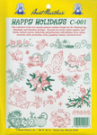 Happy Holidays - Aunt Martha's Iron-On Transfer Collections