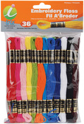 Embroidery Floss Pack 8 Meters 36/Pkg - Primary Colors