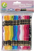 Embroidery Floss Pack 8 Meters 36/Pkg - Pastel Colors