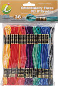 Embroidery Floss Pack 8 Meters 36/Pkg - Variegated Colors