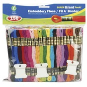Assorted Colors - Embroidery Floss Super Giant Pack 8 Meters 150/Pkg