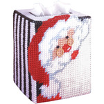 Santa Tissue Box Plastic Canvas Kit