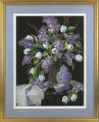 "12""X16"" Stitched In Wool & Thread - Lilacs And Lace Crewel Kit"