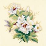 """12""""X12"""" Stitched In Wool & Floss - Hibiscus Floral Crewel Kit"""