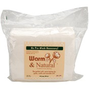 "King Size 120""X124"" - Warm & Natural Cotton Batting"