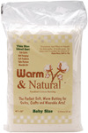 "Crib Size 45""X60"" - Warm & Natural Cotton Batting"