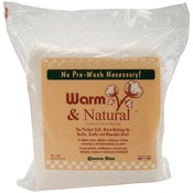 "Queen Size 90""X108"" - Warm & Natural Cotton Batting"