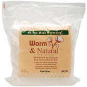 Warm & Natural Cotton Batting -Full Size