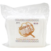 "King Size 120""X124"" - Warm & White Cotton Batting"