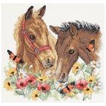 "12""X11"" - Horse Friends Stamped Cross Stitch Kit"