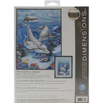 """10""""X14"""" 14 Count - The Dolphins' Domain Counted Cross Stitch Kit"""