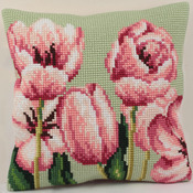 "15-3/4""X15-3/4"" - Tulipe A Gauche Pillow Cross Stitch Kit"