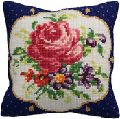 "15-3/4""X15-3/4"" - Meissen Gauche Pillow Cross Stitch Kit"