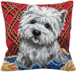 "15-3/4""X15-3/4"" - Bichon Pillow Cross Stitch Kit"