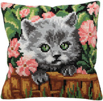 "15-3/4""X15-3/4"" - Minou Pillow Cross Stitch Kit"
