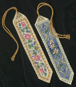"9"" Long 14 Count Set Of 2 - Gold Collection Bookmarks Counted Cross Stitch Kit"