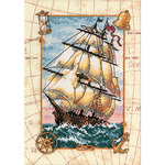 Voyage At Sea - Gold Petites Counted Cross Stitch Kit