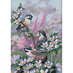 Chickadees In Spring - Gold Petites Counted Cross Stitch Kit