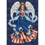 Patriotic Angel - Gold Petites Counted Cross Stitch Kit