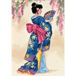 Elegant Geisha - Gold Petites Counted Cross Stitch Kit