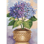 Hydrangea In Bloom - Gold Petites Counted Cross Stitch Kit