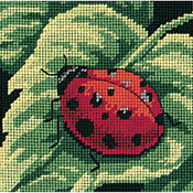 "5""X5"" Stitched In Thread - Ladybug, Ladybug... Mini Needlepoint Kit"