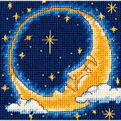 "5""X5"" Stitched In Yarn - Moon Dreamer Mini Needlepoint Kit"