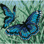 "5""X5"" Stitched In Thread - Butterfly Duo Mini Needlepoint Kit"