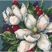 "5""X5"" Stitched In Floss - Magnolia Mini Needlepoint Kit"