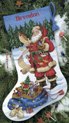 "16"" Long 14 Count - Checking His List Stocking Counted Cross Stitch Kit"