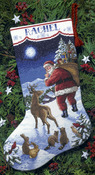 "16"" Long 14 Count - Santa's Arrival Stocking Counted Cross Stitch Kit"