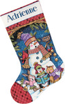 Cute Carolers Stocking Counted Cross Stitch Kit